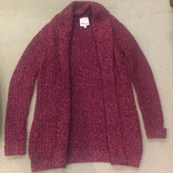 57% off Olive & Oak Sweaters - Burgundy and Pink Olive & Oak ...